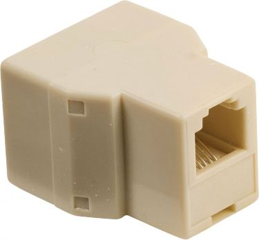 Valueline Telecom Adapter RJ11 (6P4C) Female - 2x RJ11 (4/6) Female Ivory, VLTB90990I