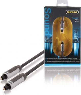 Profigold Digital Lydkabel Toslink Han - Toslink Han 1.00 m Antracit, PROA5601