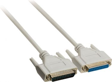 Valueline Serial Cable D-SUB 25-Pin Male - D-SUB 25-Pin Female 3.00 m Ivory, VLCP52110I30