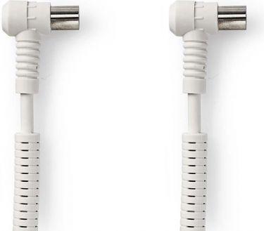 Nedis Koaksialkabel 120 dB   IEC (koaksial) hanstik, vinklet   IEC (koaksial) hunstik, vinklet   10