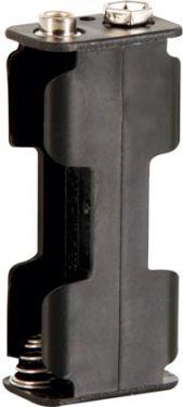 Batteriholder til 2 x AA bat. (m. knapterminaler)