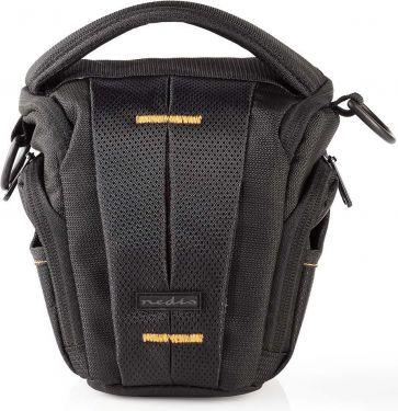 Nedis Camera Holster Bag   160-185 x 145 x 140 mm   1 Inside pocket   Black / Orange, CBAG300BK
