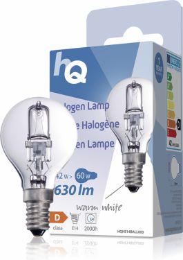 HQ Halogen Lamp E14 Ball 42 W 630 lm 2800 K, HQHE14BALL003