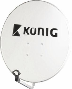 König Parabol 80 cm 39.8 dB Grå, SAT-SD80