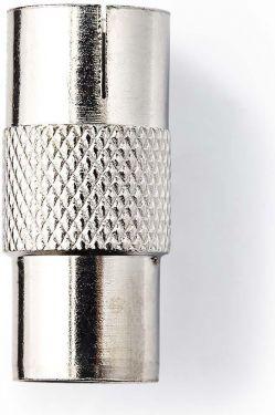 Nedis Coax Adapter | IEC (Coax) Male - IEC (Coax) Female | Metal, CSGB40942ME