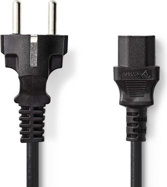Nedis Strømkabel | Schuko-hanstik | IEC-320-C13 | 3,0 m | Sort, CEGP10030BK30