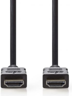 Nedis High Speed HDMI™-kabel med Ethernet | HDMI-stik | HDMI-stik | 5,0 m | Sort, CVGB34000BK50
