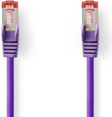 Nedis Kat. 6 S/FTP-netværkskabel | RJ45-hanstik | RJ45-hanstik | 0,25 m | Lilla, CCGP85221VT025