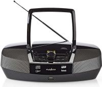 Nedis Boombox | 12 W | Bluetooth® | CD Player / FM Radio / USB / Aux | Black, SPBB200BK