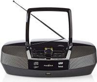 Nedis Boombox | 12 W | Bluetooth® | CD-afspiller/FM-radio/USB/AUX | Sort, SPBB200BK