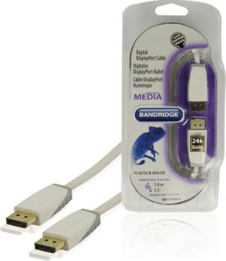 Bandridge Displayport Kabel DisplayPort Han - DisplayPort Han 1.00 m Hvid, BBM37000W10