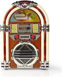 Nedis Table Radio Jukebox | FM/AM Radio CD | 3 W | Brown, RDJB3000BN