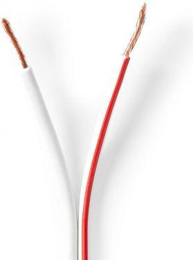 Nedis Højttalerkabel | 2 x 1,50 mm2 | 50,0 m | Tromle | Hvid, CABR1500WT500