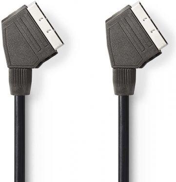 Nedis SCART-kabel | SCART-hanstik – SCART-hanstik | 1.5 m | Sort, CVGT31000BK15