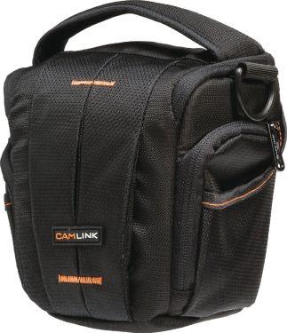 Camlink Camera Holster Bag 160-185 x 145 Black/Orange, CL-CB31