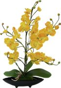 Udsmykning & Dekorationer, Europalms Orchid arrangement (EVA), artificial, yellow