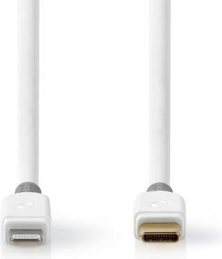 Nedis Apple Lightning Cable | Apple Lightning 8-Pin Male - USB-C | 1.00 m | White, CCBP39650WT10