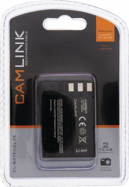 Camlink Rechargeable Lithium-Ion Camera Battery 7.4 V 1650 mAh, CL-BATENEL3E