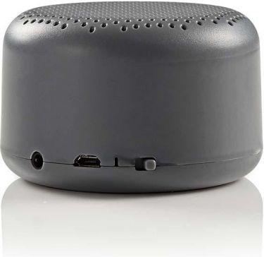 Nedis Bluetooth®-højttaler | 9 W | Op til 3 timers spilletid | Grå, SPBTAV01GY