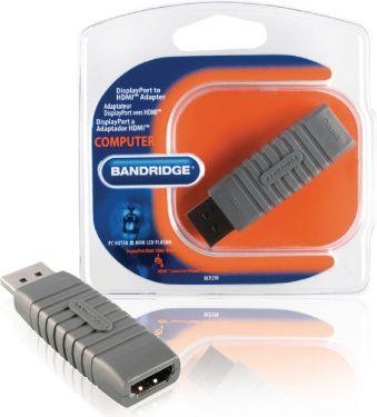 Bandridge Displayport Adapter DisplayPort Han - HDMI Han Grå, BCP270