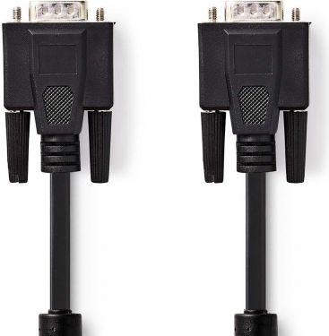 Nedis VGA Cable   VGA Male - VGA Male   15 m   Black, CCGP59000BK150