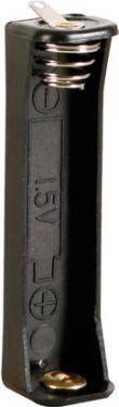 Batteriholder til 1 x AAA bat. (m. loddeflige)