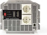 Nedis Vekselretter med modificeret sinusbølge | 12 V jævnstrøm - 230 V vekselstrøm | 2500 W | 2 x Sc