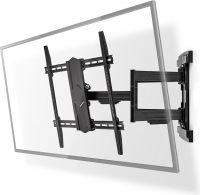"""Nedis Full Motion TV Wall Mount   43-90""""   Max 70 kg   6 Pivot Points, TVWM6570BK"""