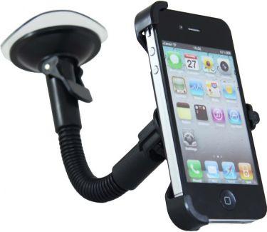 Bilholder til iPhone 4/4s Roterbar m. sugekop + svanehals