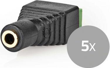 Nedis CCTV-sikkerhedsstik | 5 x | 3-trådet til 3,5 mm Female, CCTVCF50BK5