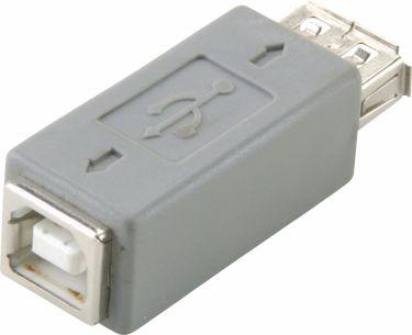 Bandridge Usb 2.0 Adapter USB A Hun - B Hun Grå, BCP464