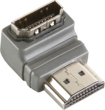 Bandridge High Speed HDMI with Ethernet Adapter Angled 90° HDMI Connector - HDMI Female Grey, BVP133