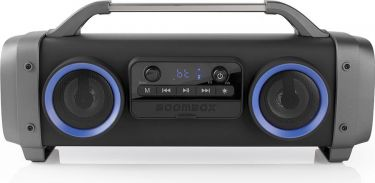 Nedis Party Boombox | 3 Hours Playtime | Bluetooth® Wireless Technology | FM Radio | Party Lights |