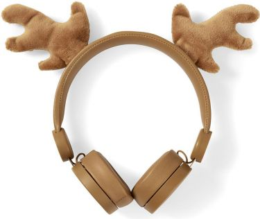 Nedis Wired Headphones | 1.2 m Round Cable | On-Ear | Detachable Magnetic Ears | Rudy Reindeer | Bro