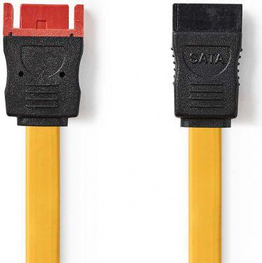 Nedis SATA 6 Gb/s datakabel | SATA-hunstik med 7 ben | SATA-hanstik med 7 ben | 0,5 m | Gul, CCGP732