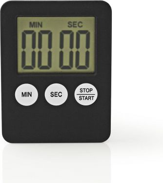Nedis Kitchen Timer | Digital Display | Black, KATR100BK