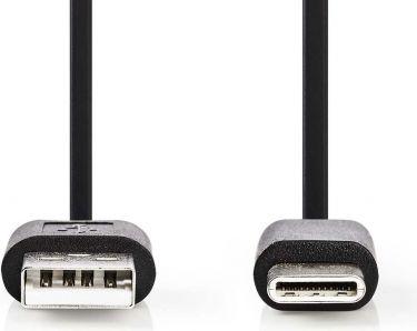 Nedis USB 2.0 Cable | Type-C Male - A Male | 0.1 m | Black, CCGP60600BK01