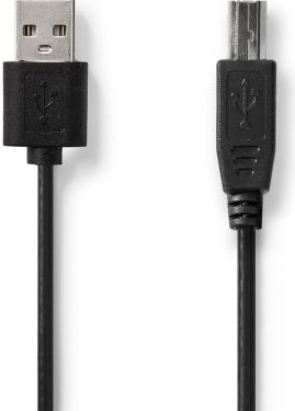 Nedis USB 2.0 Cable | A Male - USB-B Male | 2.0 m | Black, CCGT60100BK20