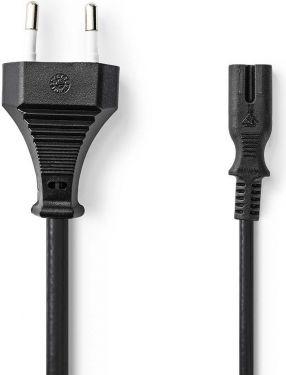 Nedis Power Cable | Euro Plug - IEC-320-C7 | 1.0 m | Black, PCGP11040BK10