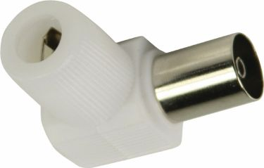 Valueline Coax Connector Female White, VLSP40924W