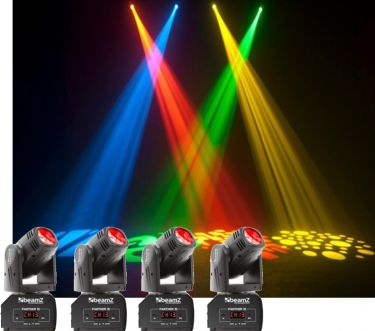 Komplet Moving Head pakke - 4 stk. LED Mini Moving Head