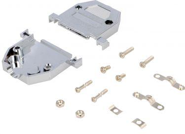 Hus for D-SUB 25 pol (og 44 pol HD), Metaliseret plast