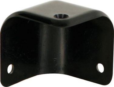 Højttalerkabinet-hjørne Sort plast, 45 x 55mm x 90°