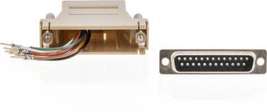 Valueline Seriel Adapter D-SUB 25-Pin Hun - RJ45 (8P8C) Hun Elfenbensfarvet, VLCP52823I