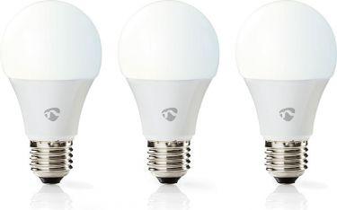 Nedis Smart LED-pære til Wi-Fi | Varm til kold hvid | E27 | 3-pak, WIFILW30WTE27