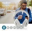 Headphones, Nedis Wireless Headphones | Bluetooth® | Over-ear | Active Noise Cancelling (ANC) | White, HPBT5260W