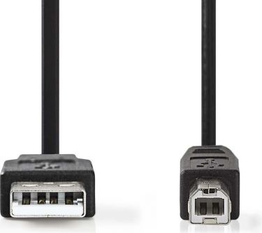 Nedis USB 2.0-kabel | A-hanstik | B-hanstik | 0,5 m | Sort, CCGP60100BK05