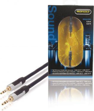 Profigold Stereo Audio Kabel 3.5 mm Han - 3.5 mm Han 1.00 m Antracit, PROA3301
