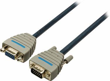 Bandridge VGA Extension Cable VGA Male - VGA Female 2.00 m Blue, BCL1002