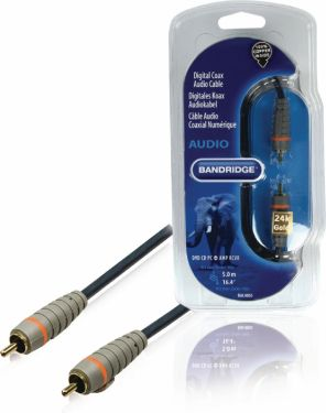 Bandridge Digital Audio Cable RCA Male - RCA Male 5.00 m Blue, BAL4805